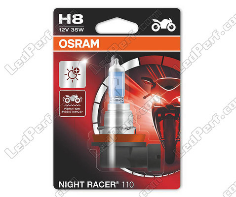 H8 Osram Night Racer 110 special motorcycle bulb, sold individually - Ref: 64212NR1-01B